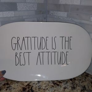 Rae Dunn GRATITUDE IS THE BEST ATTITUDE  platter